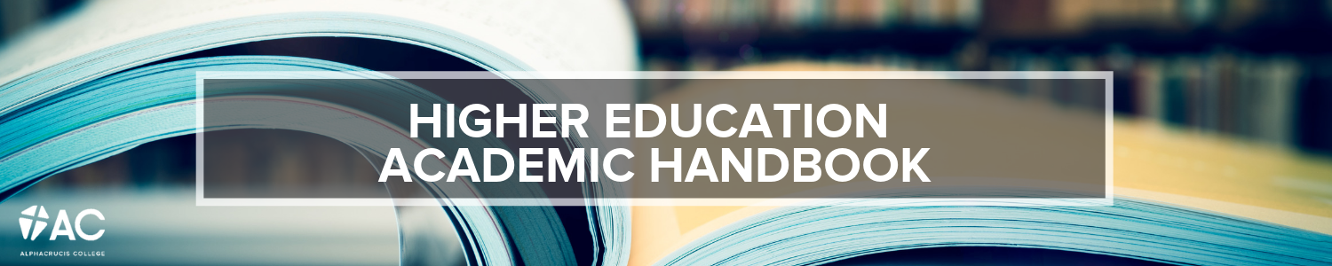 higher education academic handbook